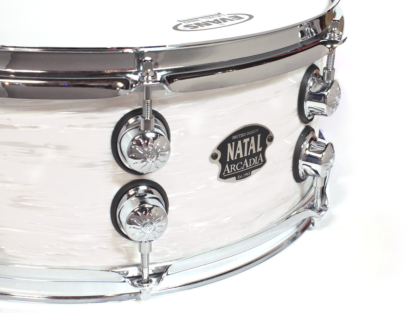 Natal Arcadia The '65 Limited Edition White Oyster Snare Drum