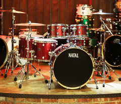 Natal Arcadia UFX Plus 6-Piece Birch Drum Kit in Red Sparkle (Hardware Included)