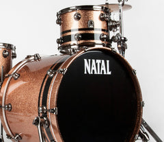 Natal 'The Originals' Split Lacquer TRC 4-Piece Shell Pack in Champagne Sparkle/Piano Black