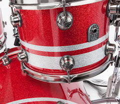 Natal Birch Red and Silver Drum Kit