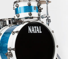 Natal Blue and White drum kit