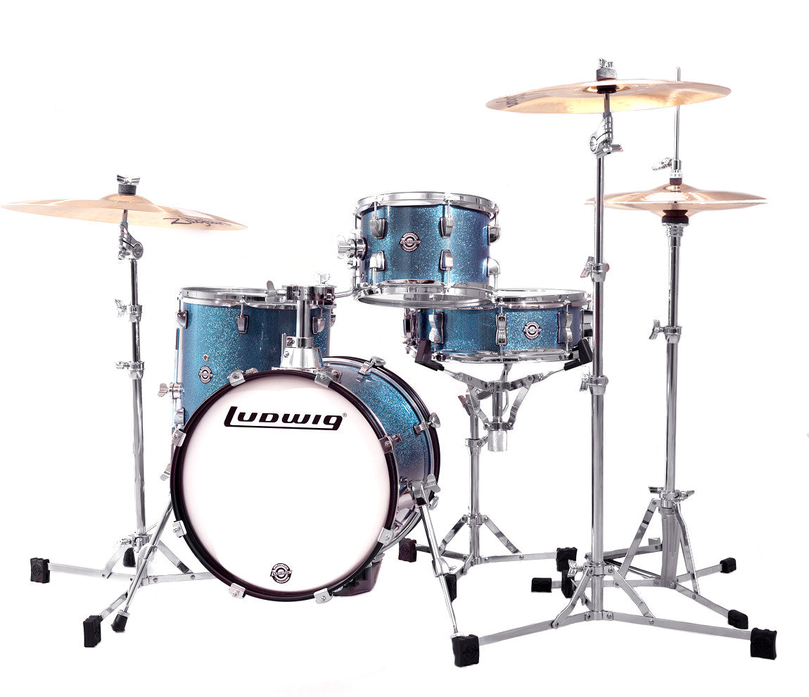 Breakbeats Drum Kit : ludwig breakbeats by questlove 4 piece drum kit in azure sparkle drum shop ~ Vivirlamusica.com Haus und Dekorationen