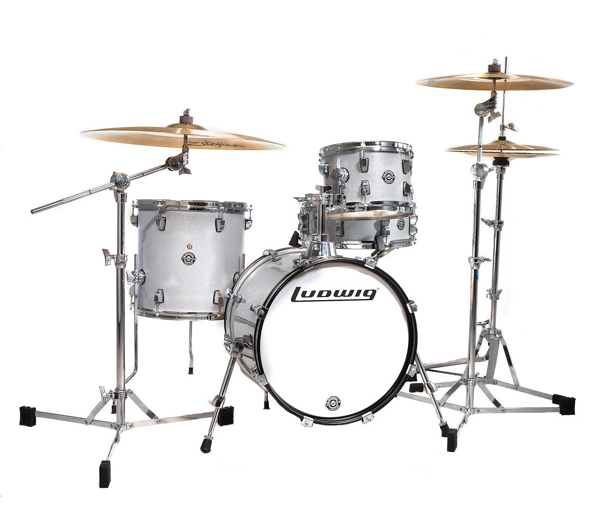 Ludwig Breakbeats by Questlove 4-Piece Drum Kit in White