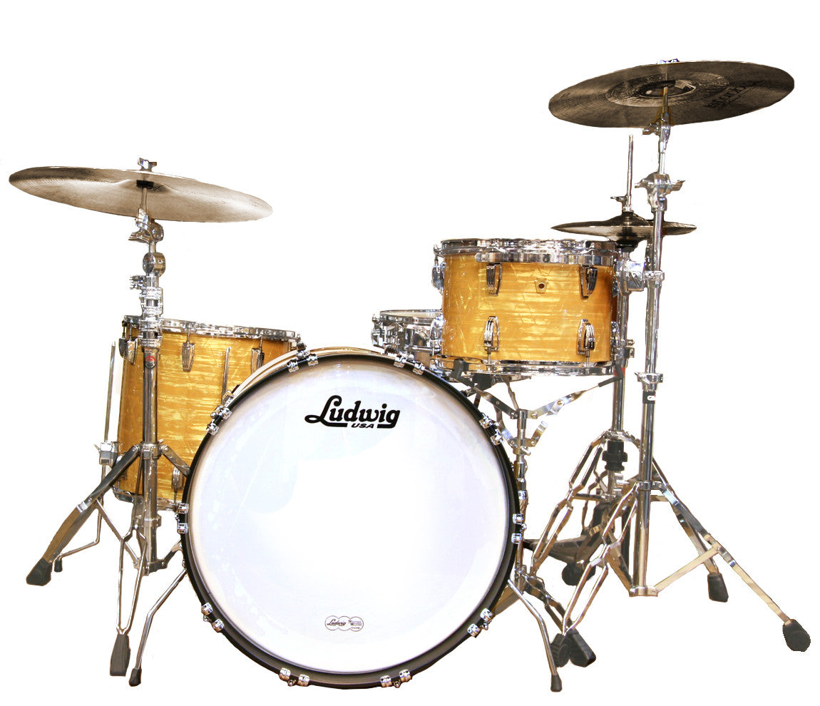 Ludwig Legacy Mahogany Super Classic Shell Pack in Aged Onyx Marine