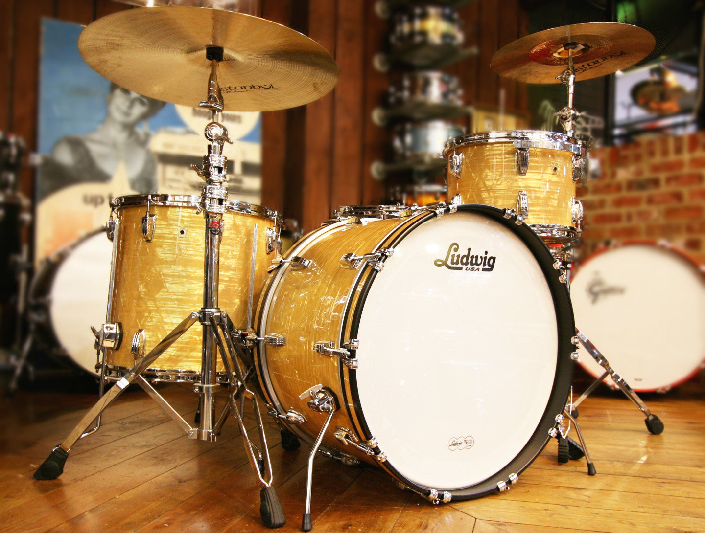 Ludwig Legacy Mahogany Super Classic 3 Piece In Aged Onyx