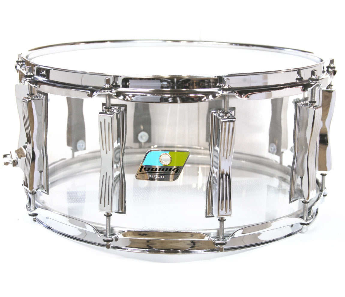 Ludwig Vistalite Zep Beat Shell Pack in Clear