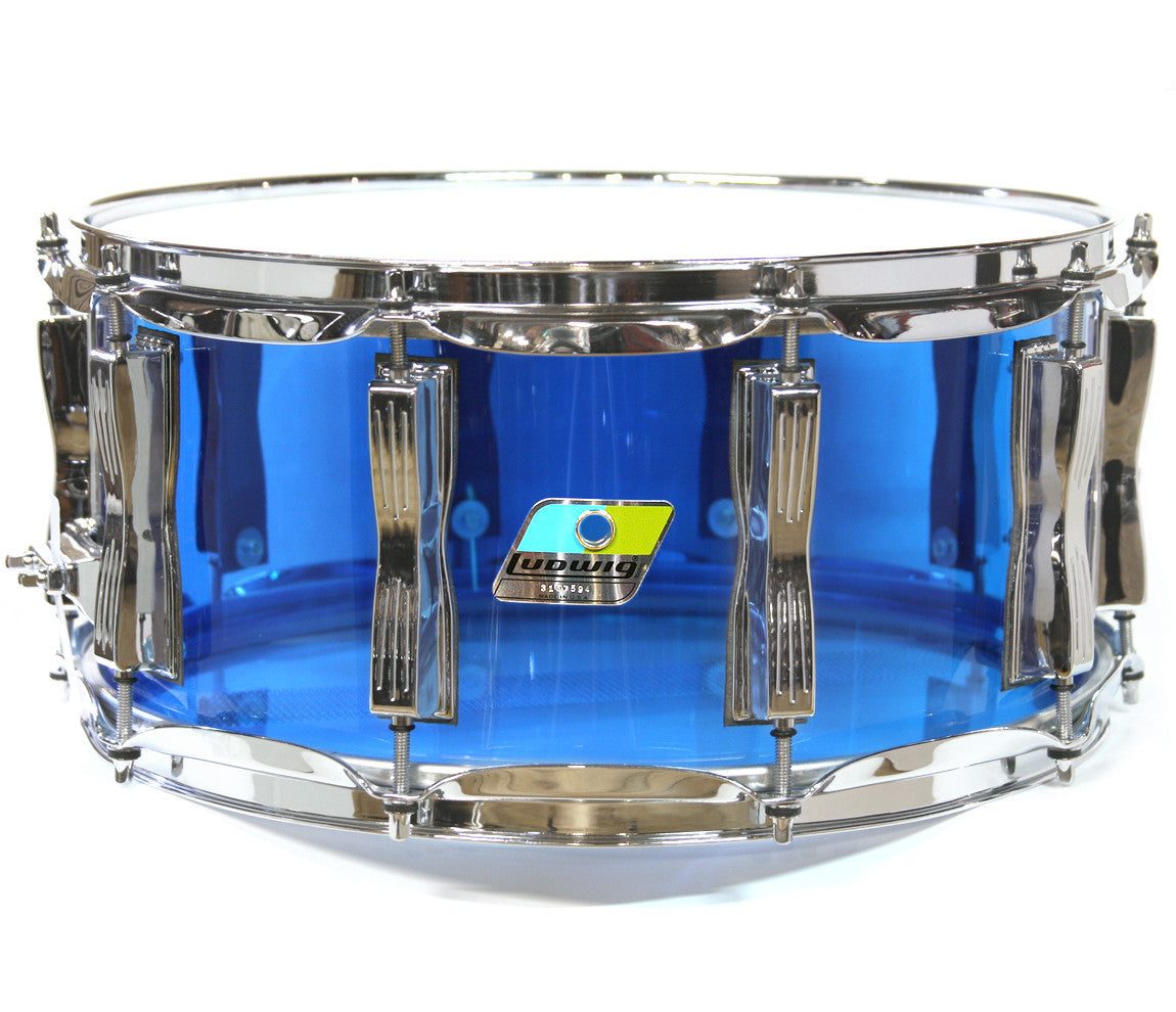 Ludwig Vistalite Zep Beat Shell Pack in Blue