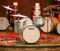 Oasis - Vintage Ludwig Down Beat 3-Piece in Original Silver Sparkle