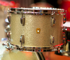 Ludwig Down Beat Original Champagne Sparkle Drum Kit Belonged to Alan White from Oasis