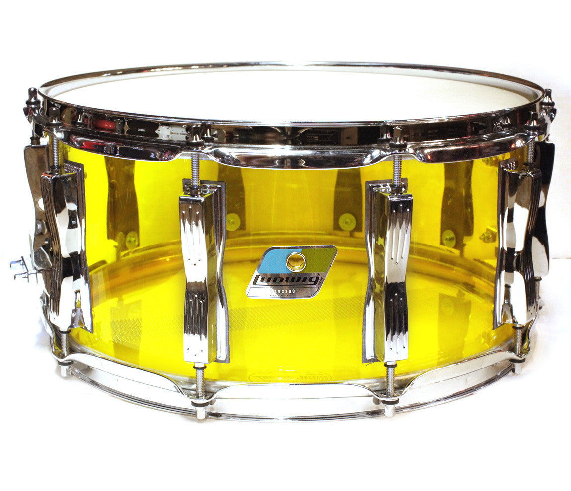 Ludwig Vistalite Zep Beat Shell Pack in Yellow
