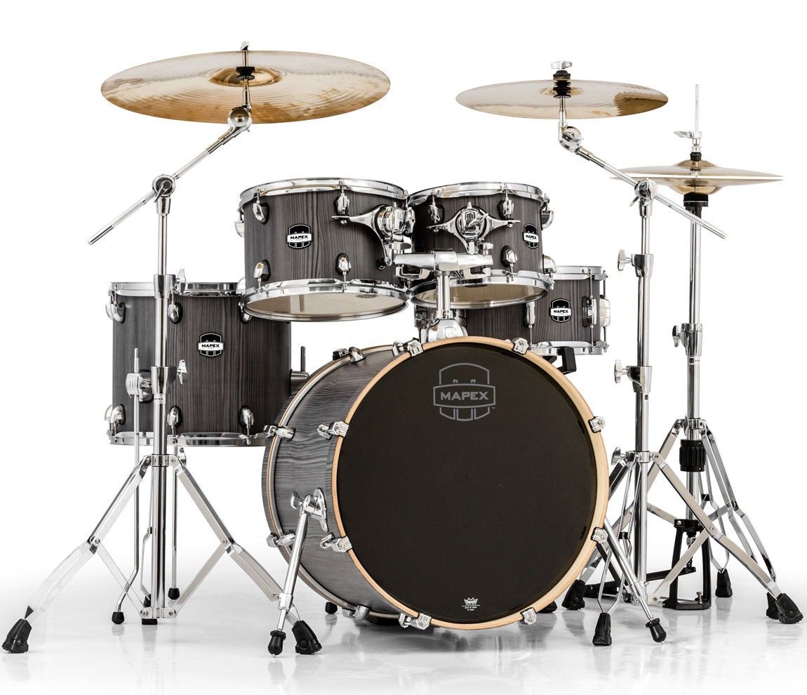 Mapex Mars Smokewood Drum Kit with Chrome Hardware