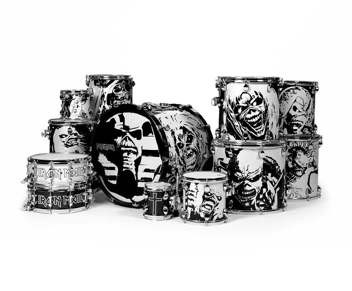 Premier Elite Series 'Ed Till I'm Dead' 11-Piece Shell Pack Iron Maiden Drum Kit