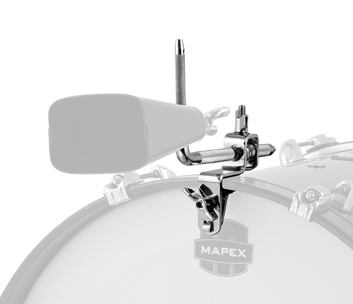 Mapex MCH912 Cowbell Holder for Bass Drum, Mapex, Chrome, Percussion Mounts & Arms, Hardware, Accessories