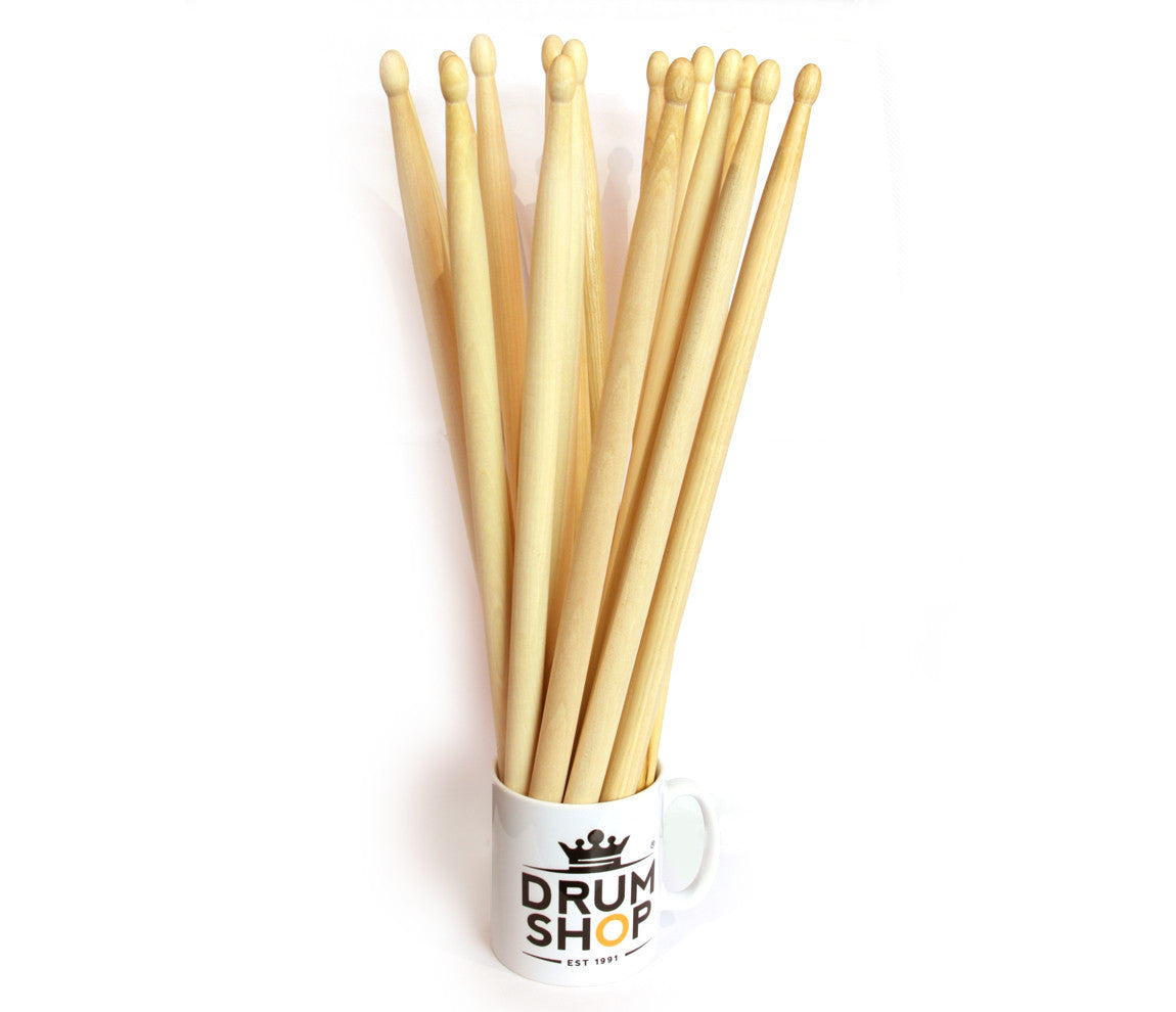 Drumshop 'Cup of Sticks' 5A Drumsticks and Mug