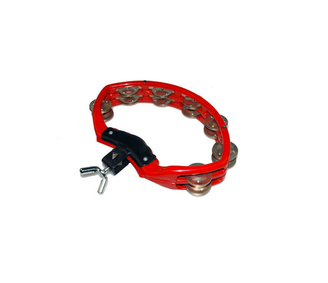 Natal Spirit Drumset Mount Tambourine in Red, Vendor: Natal, Type: Tambourines & Jingles, Finish: Red, NSDR