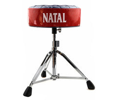 Natal H-ST-DTBR Drum Throne - Blue Round Seat with Red Sides
