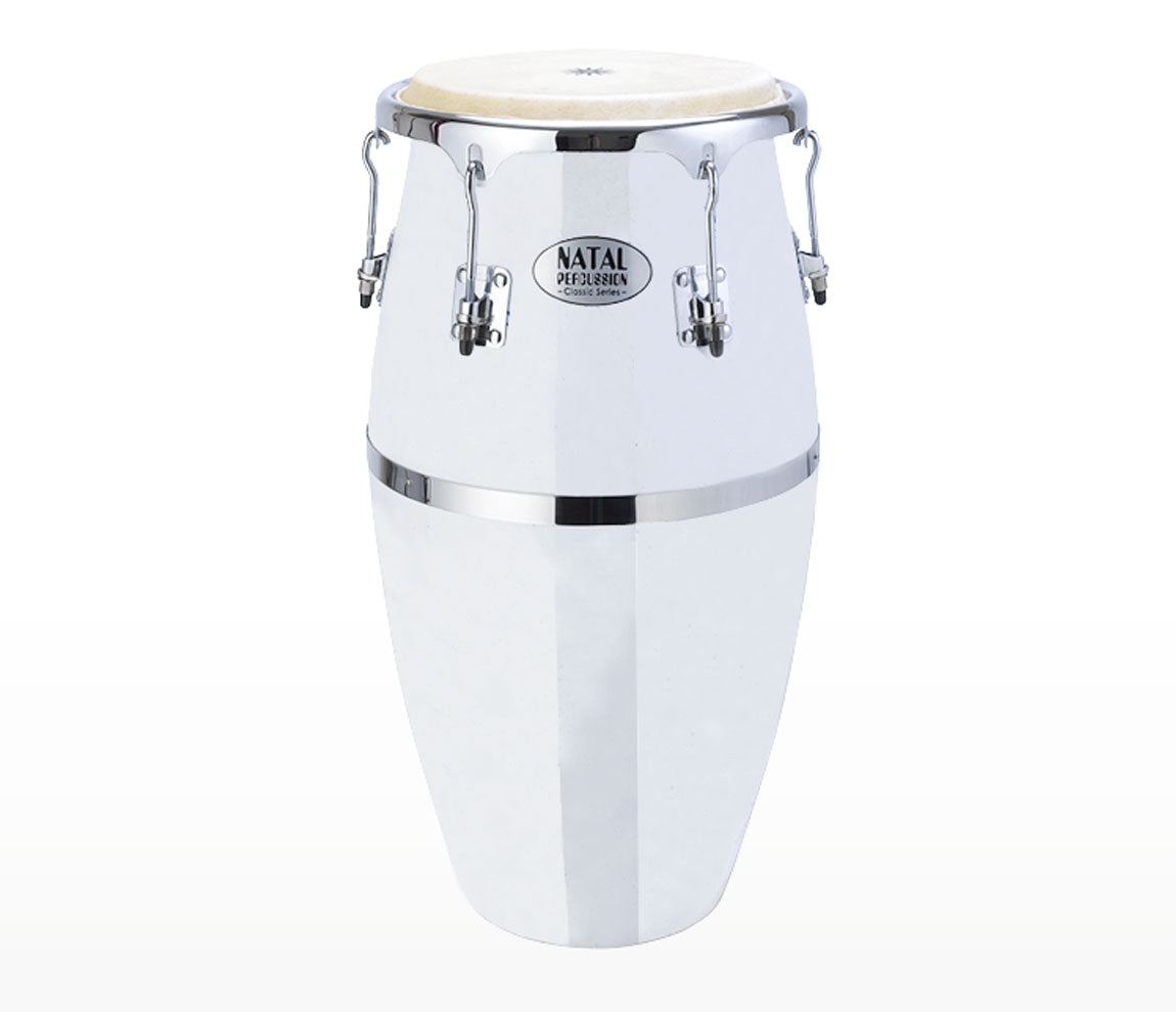 Natal Fibreglass Conga - White, Natal, Congas, Percussion Instruments, Percussion, White