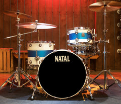 Natal Cafe Racer 3-Piece Shell Pack in White with Blue Sparkle Matte