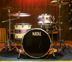 Natal Cafe Racer 3-Piece Shell Pack in White with Violet Sparkle Matte