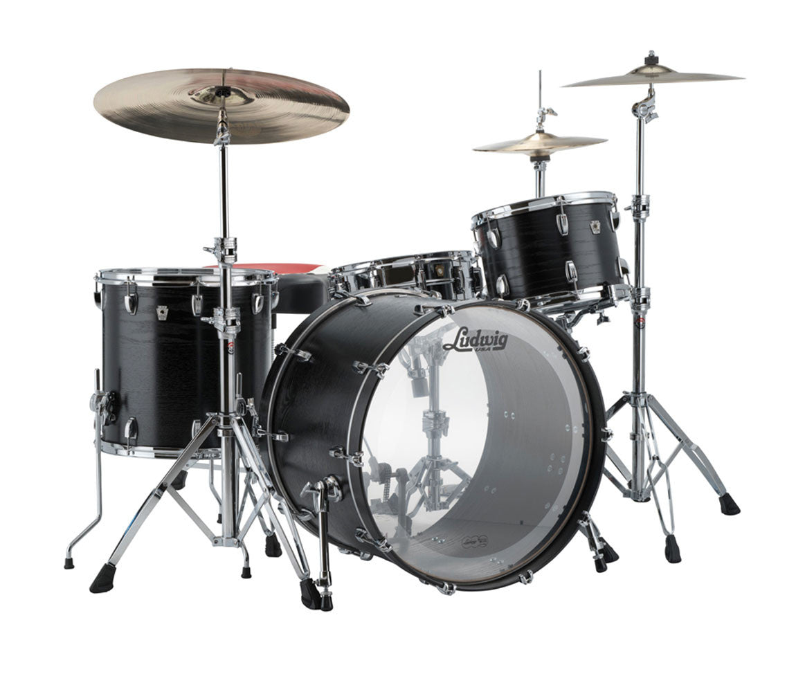 Ludwig Keystone X 4-Piece Shell Pack in Night Oak