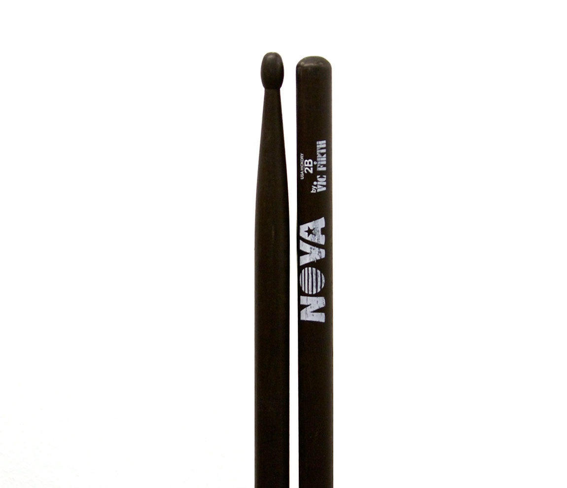 Vic Firth Nova 2B Drumsticks - Black Wood Tip