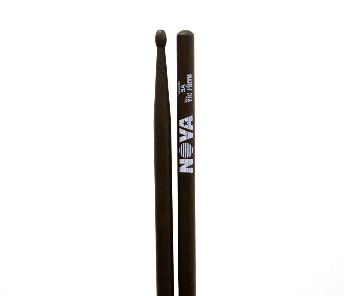 Vic Firth Nova 5A Drumsticks - Black Wood Tip