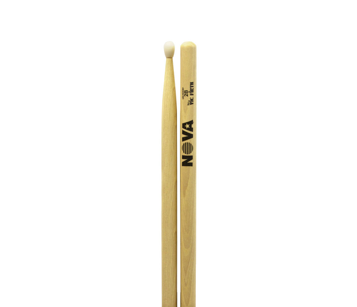 Vic Firth Nova 2B Drumsticks - Nylon Natural