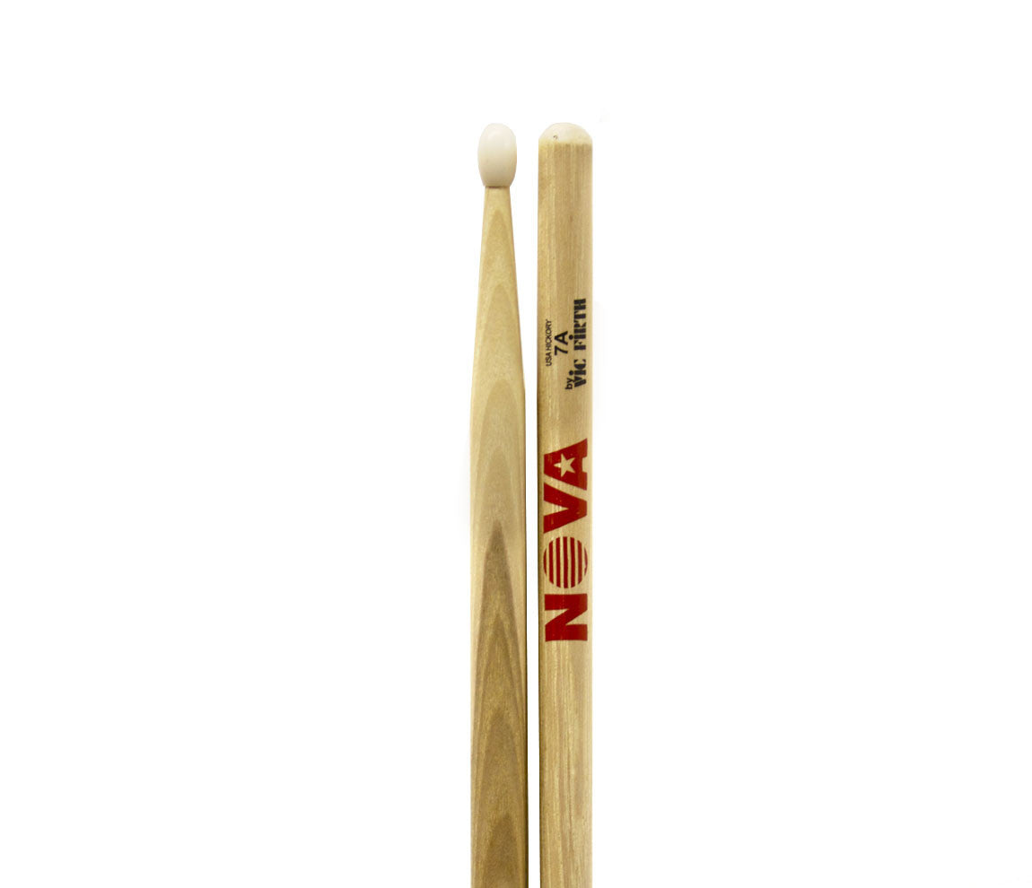 Vic Firth Nova 7A Drumsticks - Natural Nylon Tip