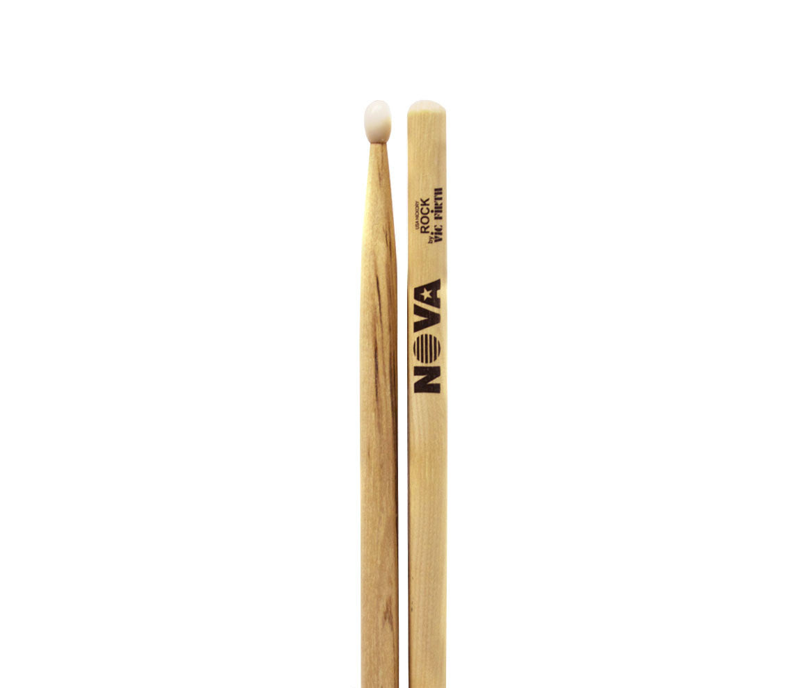 Vic Firth Nova Rock Drumsticks - Natural Nylon Tip
