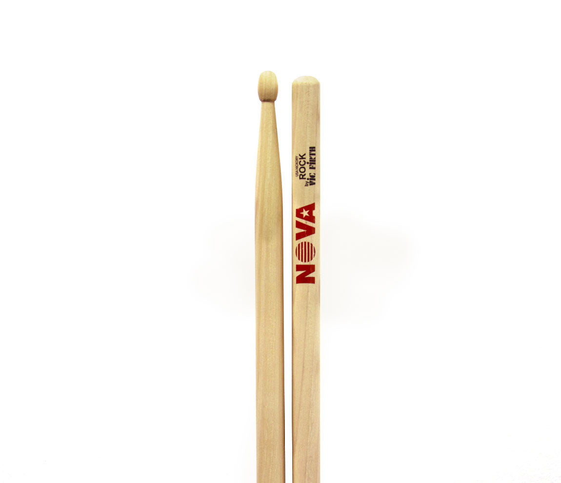 Vic Firth Nova Rock Drumsticks - Natural Wood Tip