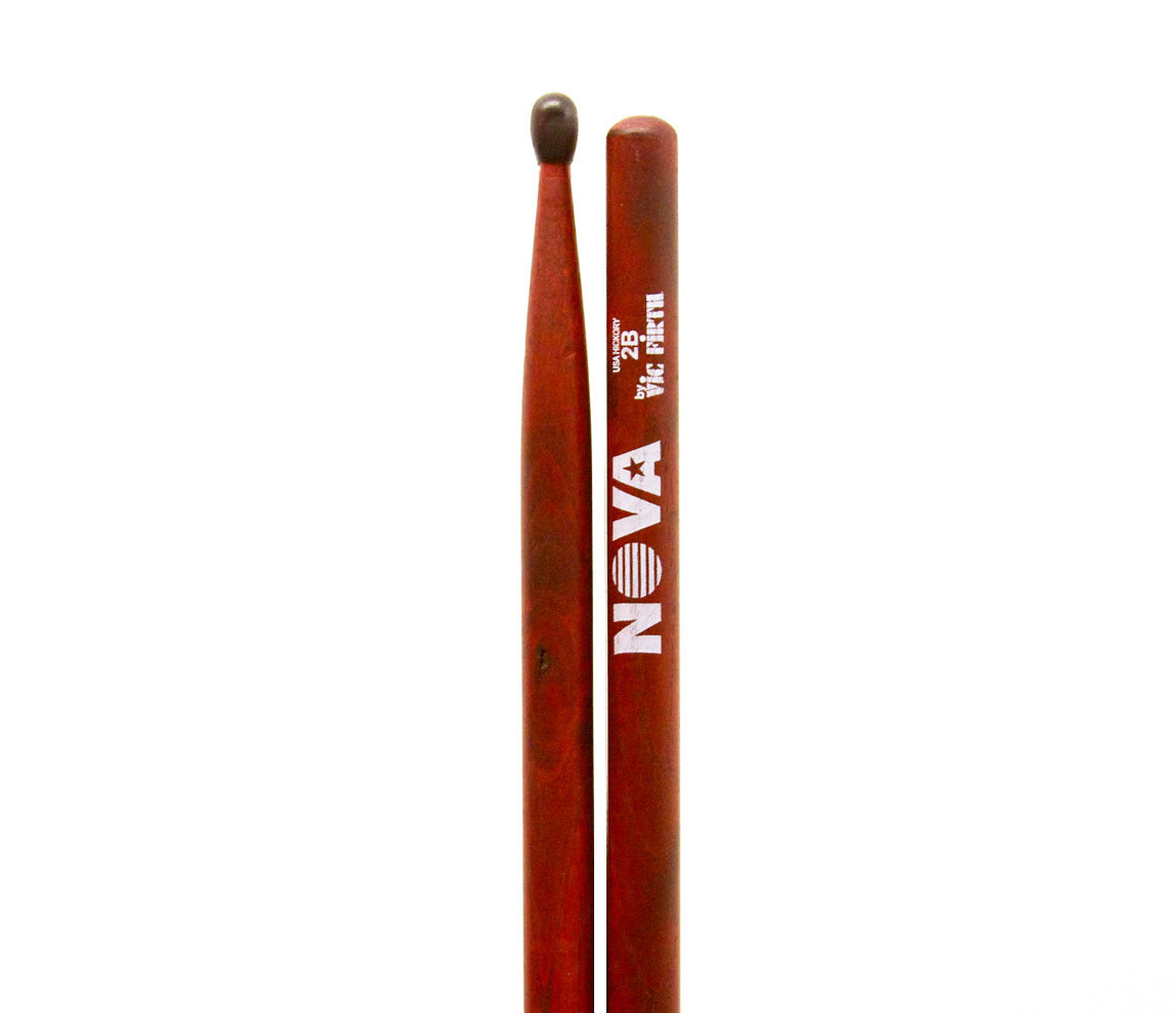 Vic Firth Nova 2B Red Drumsticks