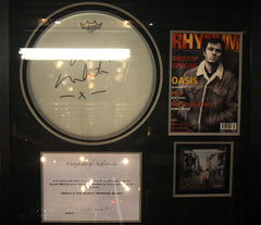Alan White signed drum head,