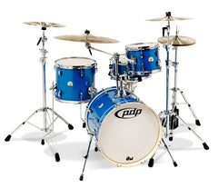 PDP New Yorker 4-Piece Jazz Drum Kit in Sapphire Wrap