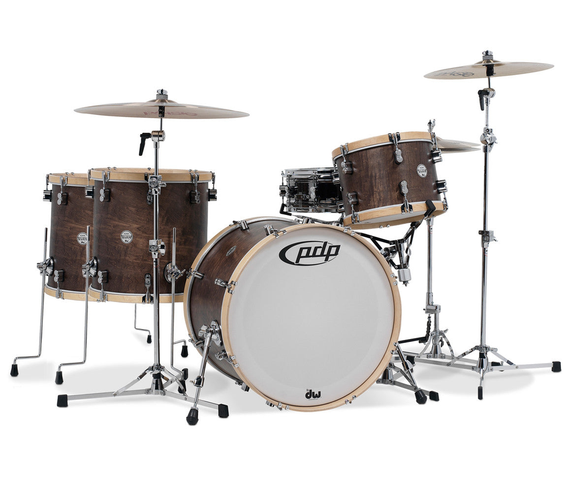 PDP CM Classic 4-Piece Walnut with Natural Hoops Shell Pack