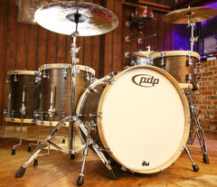 PDP CM Classic Walnut Drum Kit with Natural Hoops