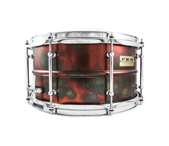 Pork Pie Pork Rub Brass Snare Drum, Pork Pie, Pork Pie Percussion, Pork Rub, Snare Drums, Finish: Brass