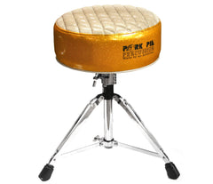 Pork Pie Deuce Gold & Silver Drum Throne with Base