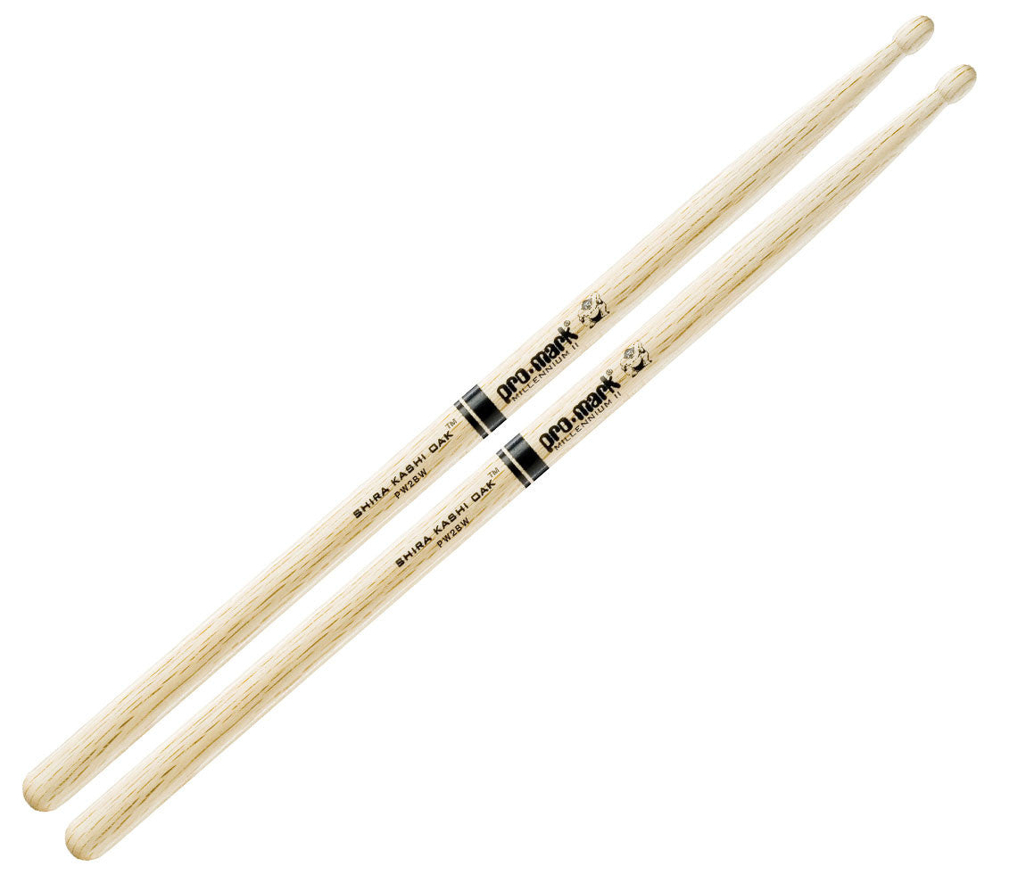 Pro-Mark Japanese Shira Kashi Oak 2B Wood Tip Drumsticks (PW2BW)