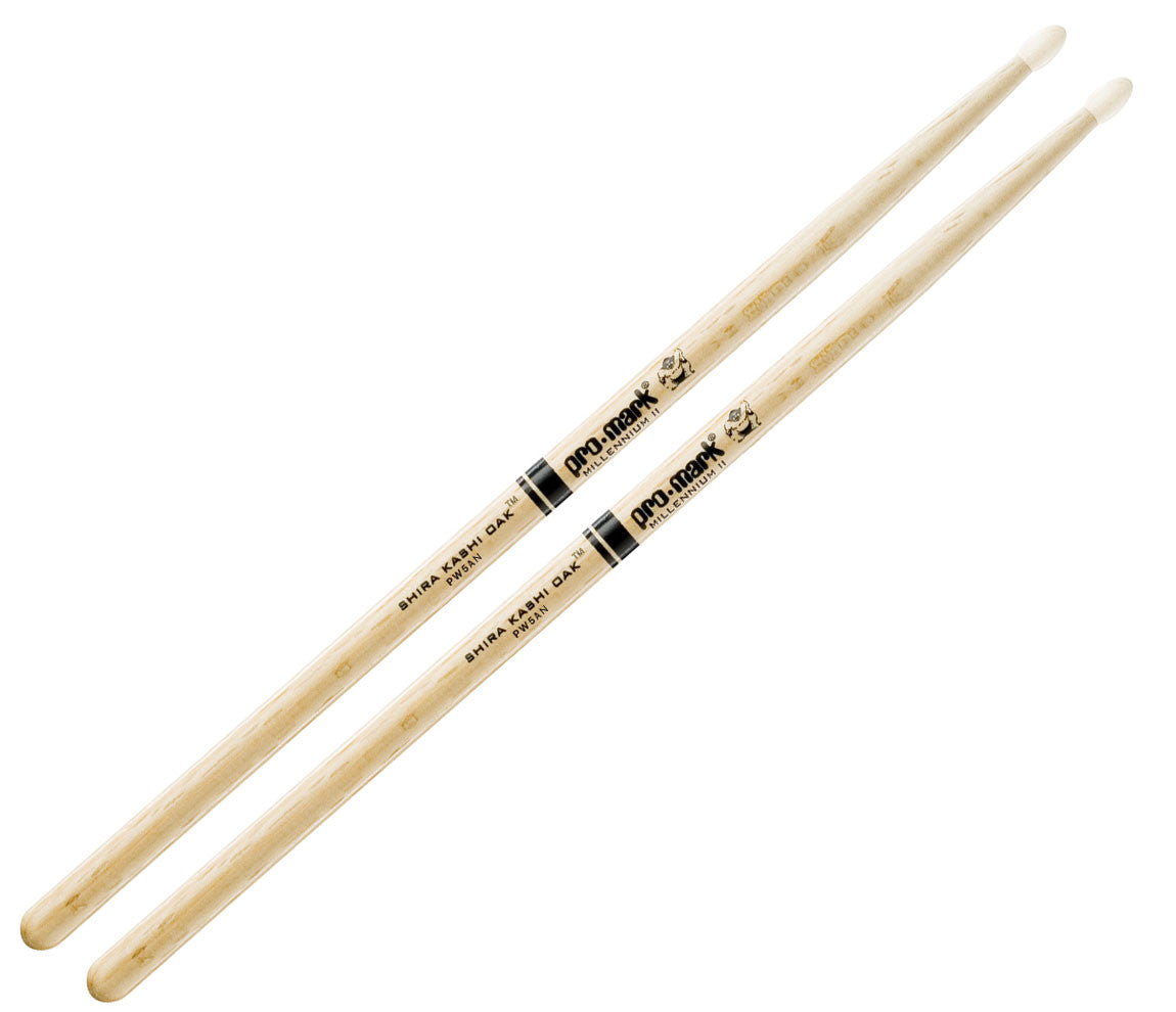 Pro-Mark Shira Kashi White Oak 5A Nylon Tip Drumsticks (PW5AN)
