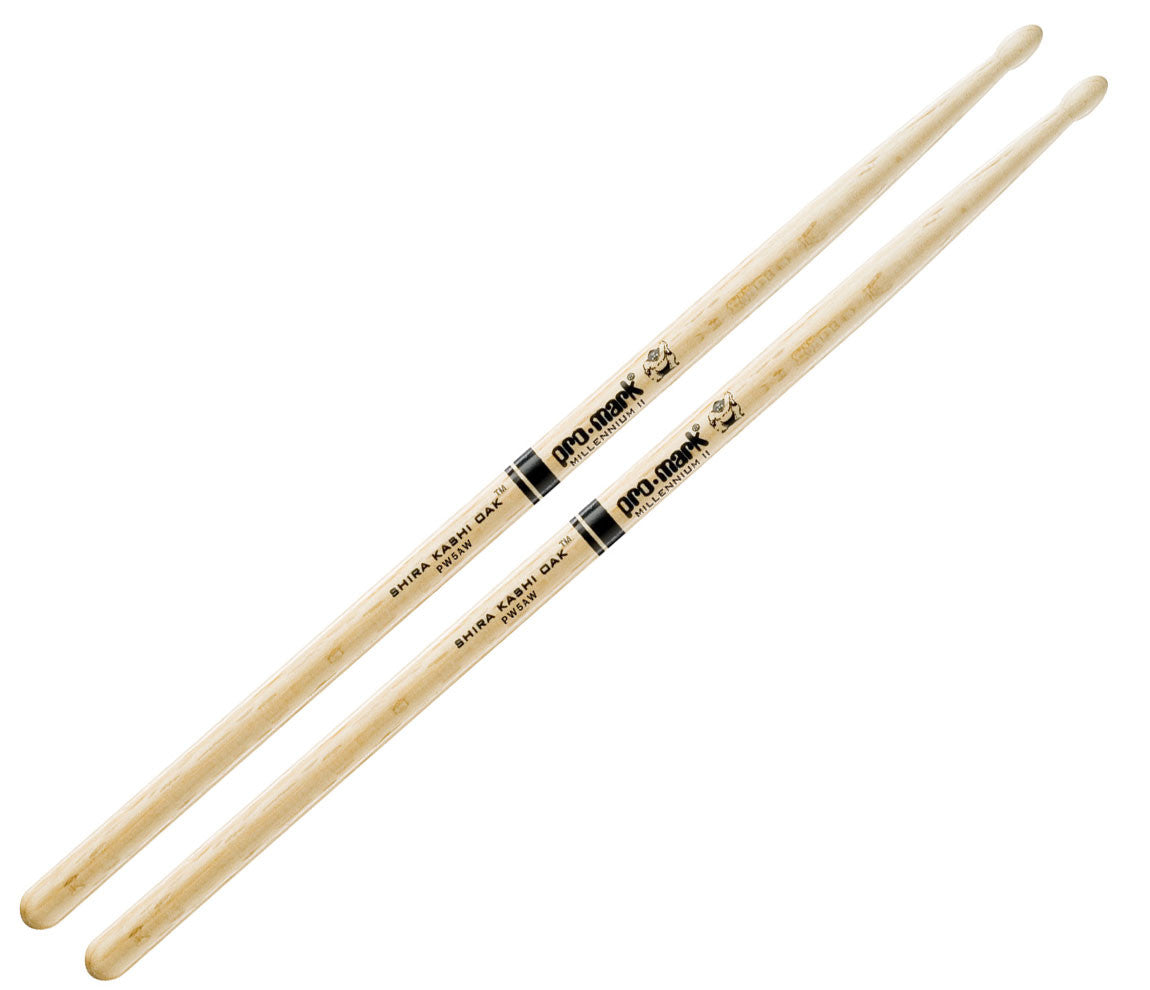 Pro-Mark Japanese Shira Kashi White Oak 5A Wood Tip Drumsticks (PW5AW)