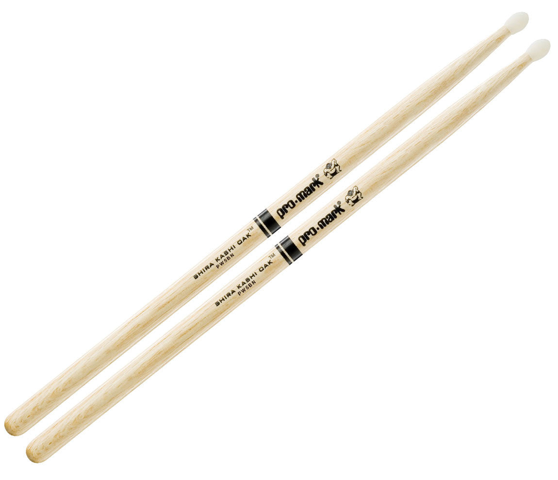 Pro-Mark Shira Kashi White Oak 5B Nylon Tip Drumsticks (PW5BN)