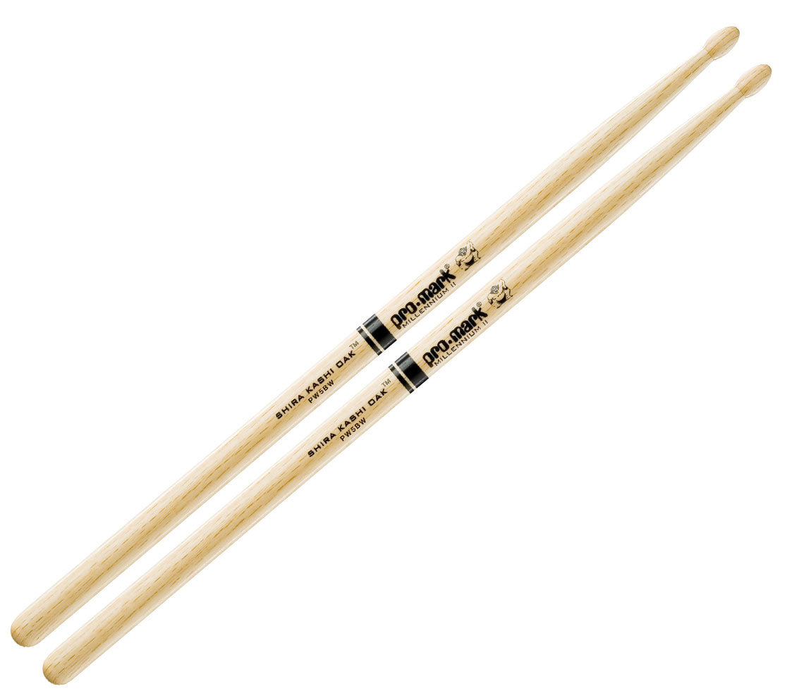 Pro-Mark Japanese Shira Kashi White Oak 5B Wood Tip Drumsticks (PW5BW)