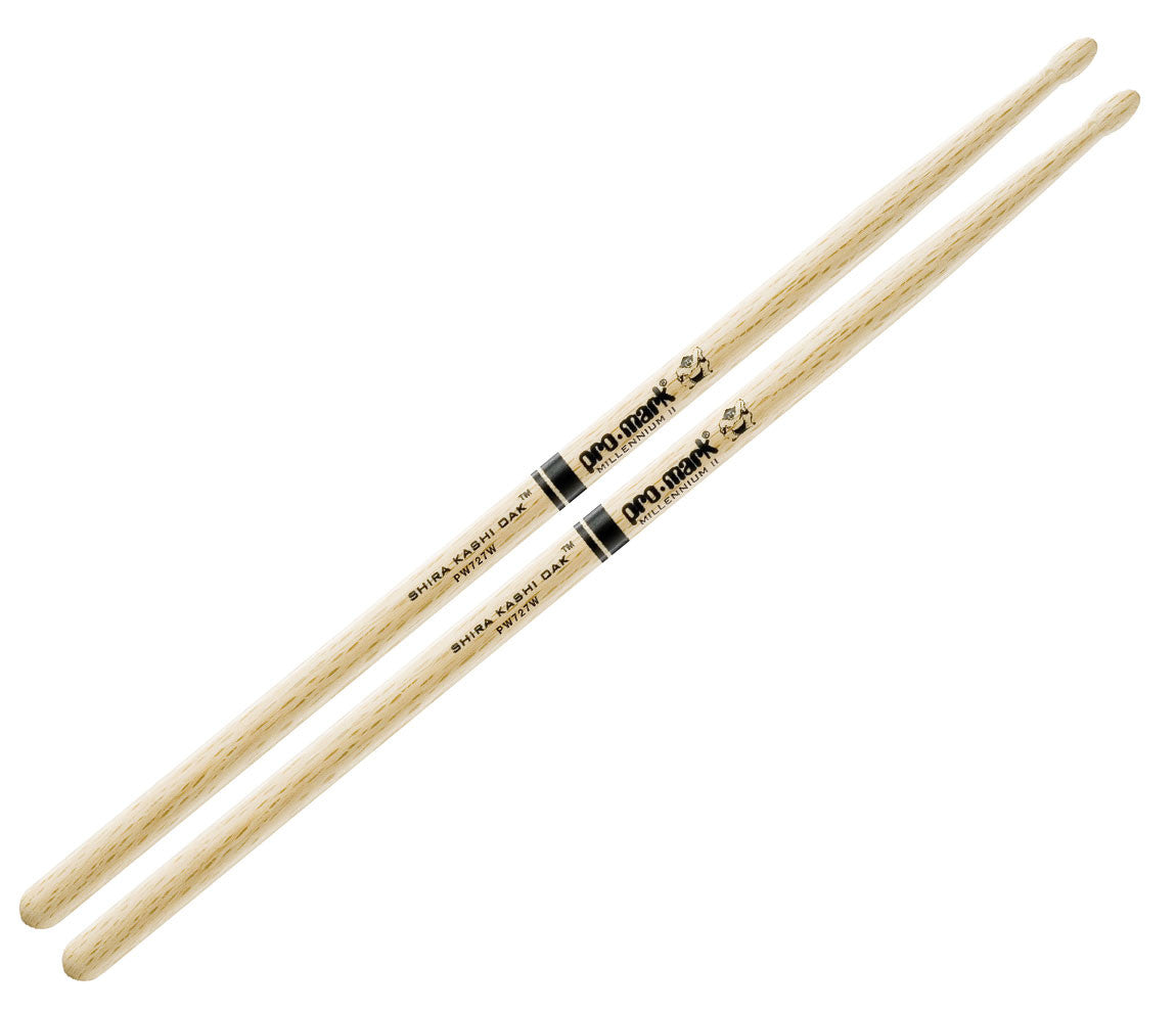 Pro-Mark Japanese Shira Kashi White Oak 727 Wood Tip Drumsticks (PW727W)