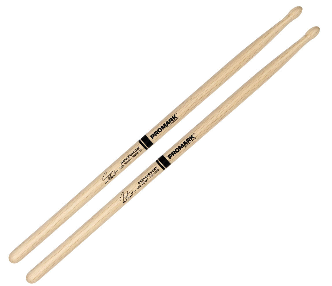 Pro-Mark Shira Kashi White Oak Neil Peart 747 Wood Tip Drumsticks (PW747W)