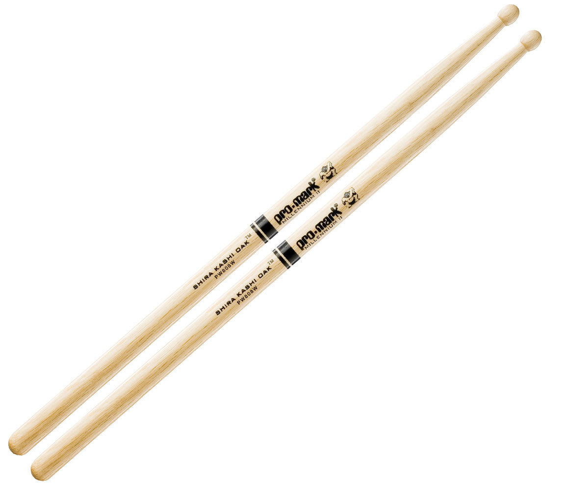 Pro-Mark Shira Kashi White Oak 808 Wood Tip Drumsticks (PW808W)