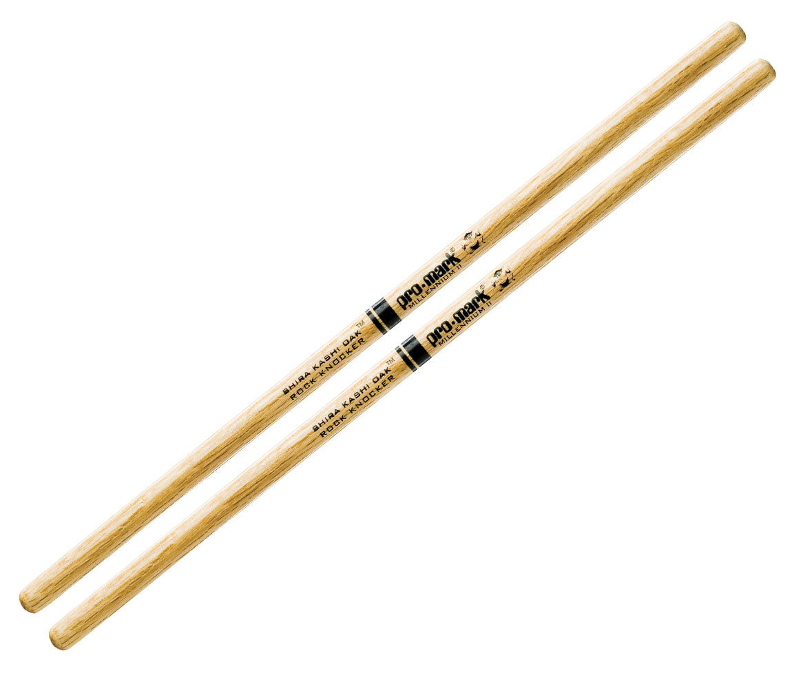 Pro-Mark Shira Kashi White Oak 'Rock Knocker' Wood Tip Drumsticks (PWRKW)