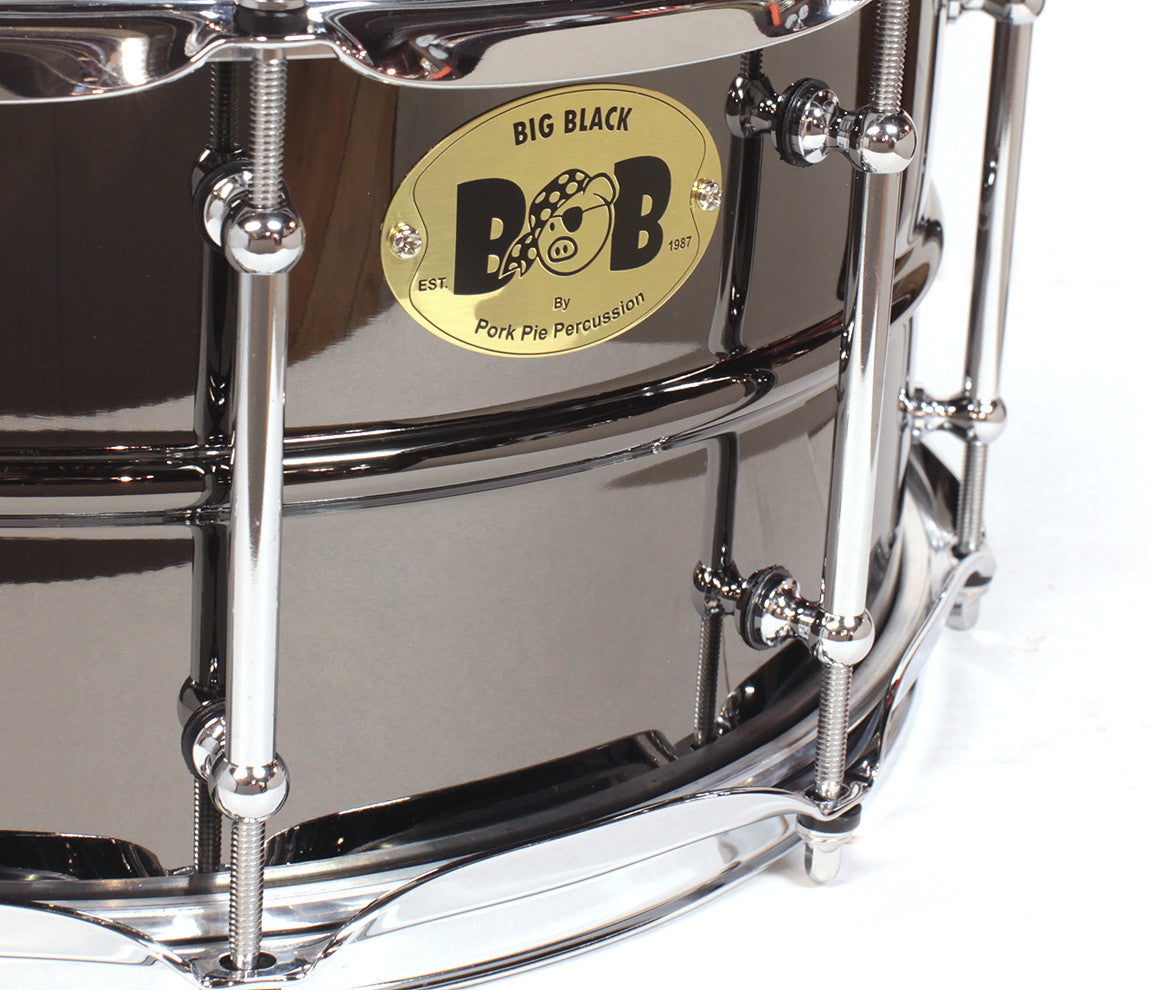 Pork Pie Big Black Brass Snare Drum