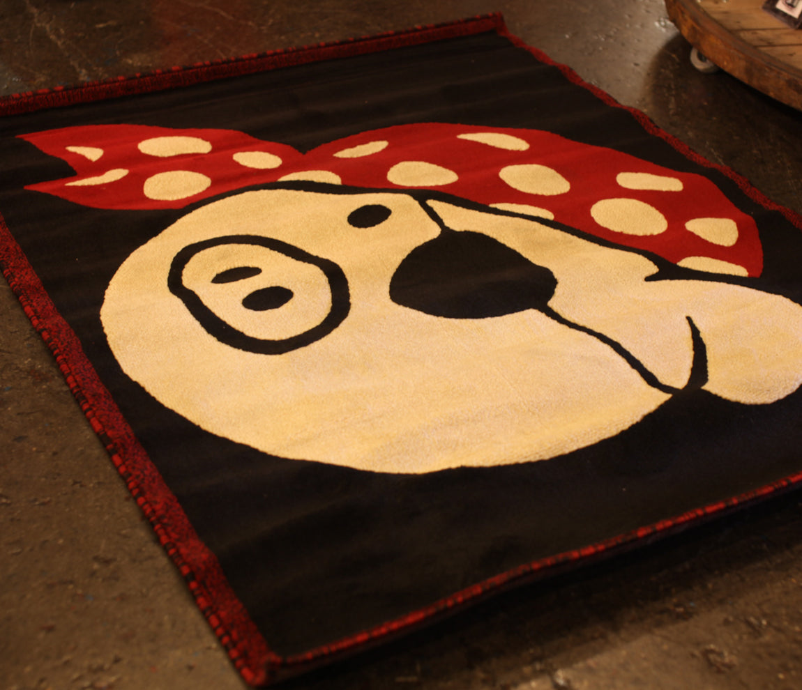 Pork Pie Drum Rug, Pork Pie, 4' x 6' Rug, Drum Rug