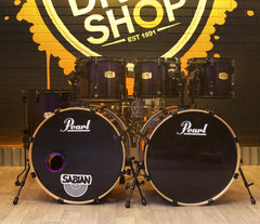 Pre-Loved Pearl ELX 6-Piece Drum Kit in Purple