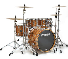 Sonor ProLite 4-Piece Shell Pack in Chocolate Burl